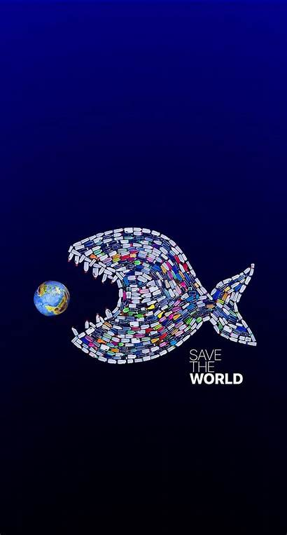 Save Iphone Wallpapers Earth Planet Fish Backgrounds