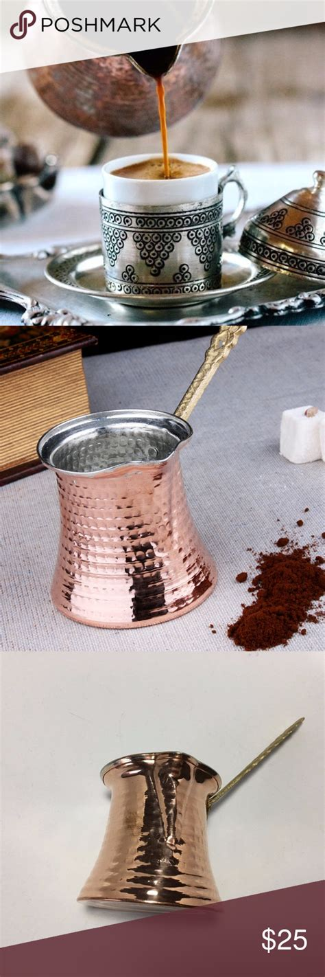 You can make enough coffee inside. Turkish Copper Coffee Pot, Bakir Large Jezve NEW