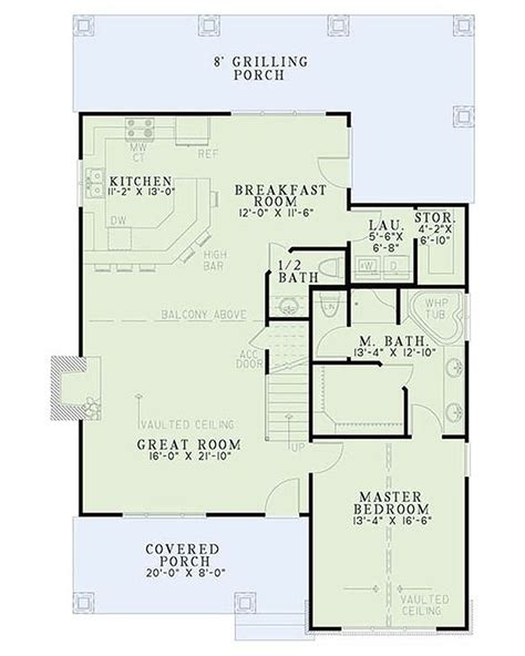 Bungalow Style House Plan 3 Beds 2 Baths 1874 Sq/Ft Plan