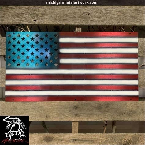 american flag metal wall art michigan metal artwork