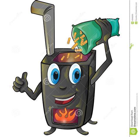Wood Pellet Fireplace by Pellet Stove Cartoon Stock Vector Image 42940255