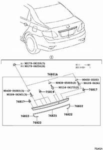 2011 Toyota Corolla Deck Lid Finish Panel Gasket