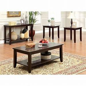 furniture of america ronna 4 piece coffee table set in With 4 pc coffee table set