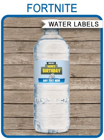 fortnite party water bottle labels fortnite theme party