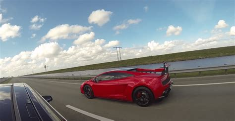 [video] Tesla Model S P85d Vs Lamborghini Gallardo Lp570-4