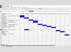 Creating A Gantt Chart In Google Sheets Youtube Qualads