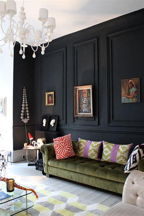 black accent wall ideas    bold statement