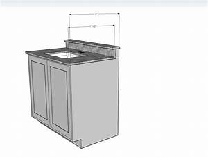 24quot cabinet base as a bathroom vanity denver shower for How deep is a bathroom vanity