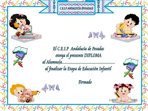 diplomas infantiles divertidos para imprimir mil recursos