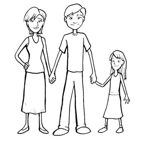 disegno  famiglia da colorare  bambini