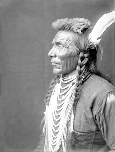 american indians blackfoot man  side profile