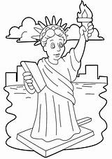 Liberty Statue Coloring Pages Drawing Template Niagara Falls Stunning Clipart Easy Cliparts Printable Getdrawings Getcolorings Library sketch template
