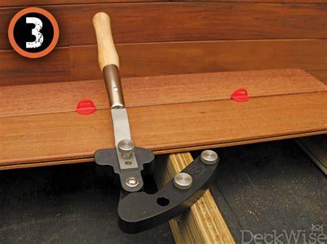 Deck Board Straightener Menards by Plank Straightening Tool Bend Warped Terrace Planks