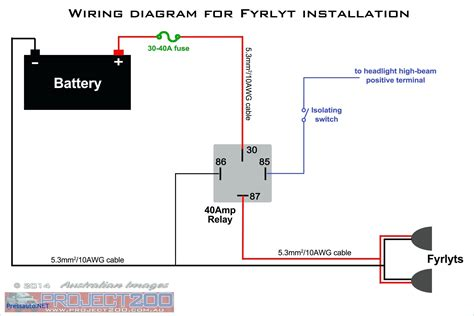 12 Volt Light Wiring Diagram by 12v 5 Pin Relay Wiring Diagram Driving Lights How To Wire