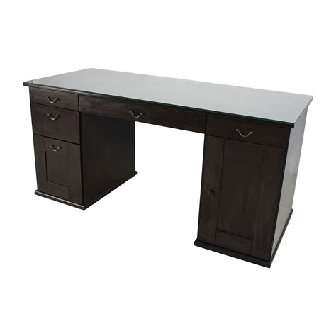 65% Off  Ikea Ikea Glass Top Office Desk Tables