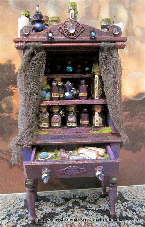 Witch's Herb Cupboard Ooak Dollhouse Miniature In 112