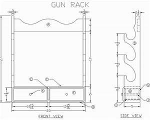 DIY Gun Rack Pattern Plans Free