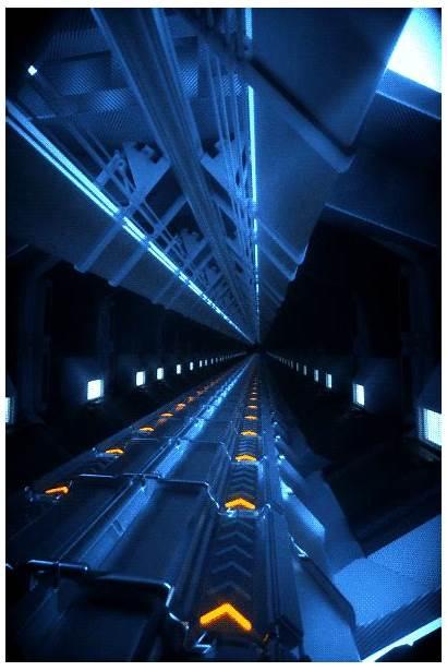 Space Futuristic Neon Elevator Sci Fi Gifs