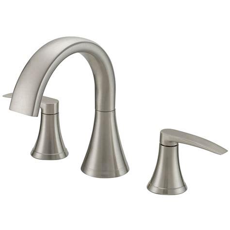 deck mount tub faucet shop lyndsay brushed nickel 2 handle deck mount