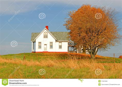 small cabin building plans house on the hill royalty free stock image image