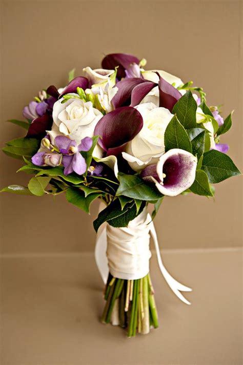 purple purple ivory bouquet bouquet flower power