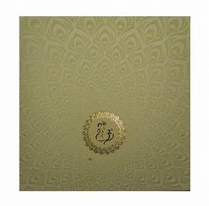 Wedding Card With Peacock Feather Design And Multi-Color ...