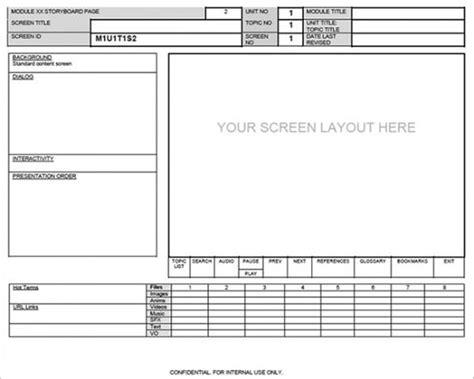 website storyboard templates