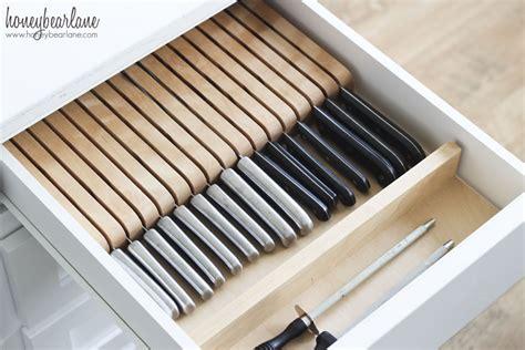 kitchen knife drawer storage organized kitchen drawers honeybear 5289
