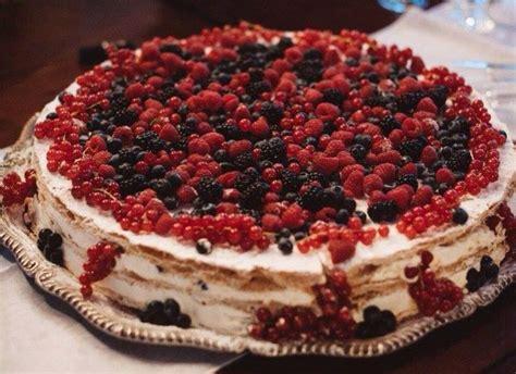 Italian Wedding Cake Millefoglie With Berries For