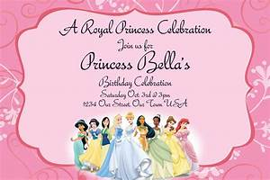 40th birthday ideas disney princess birthday party With princess party invites free templates