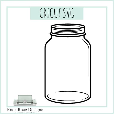 Mason Jar- SVG FILE – Rock Rose Designs