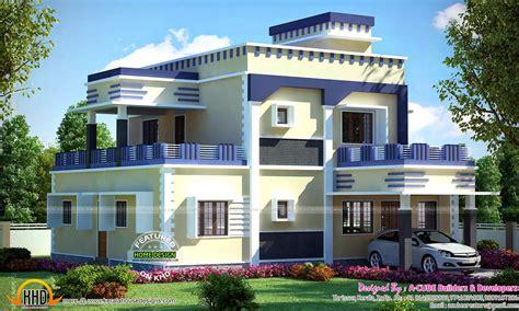 Flat roof house decorative elements - Kerala home design