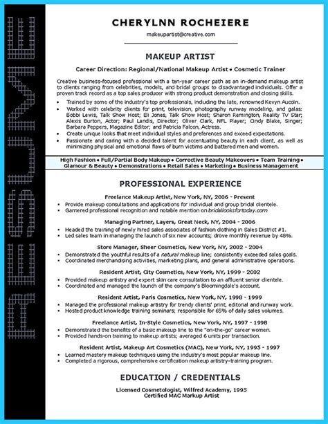 Artist Resume by Artist Resume Template That Look Professional