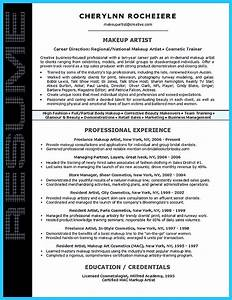 Resume For A Cosmetologist Artist Resume Template That Look Professional