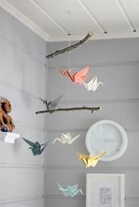Mobile Basteln Origami : 1001 ideen f r mobile selber basteln einzigartige ideen diy origami origami paper und ~ Orissabook.com Haus und Dekorationen