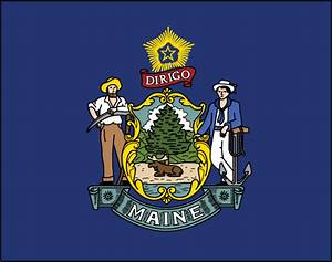 MAINE FLAG Elmers Flag and Banner