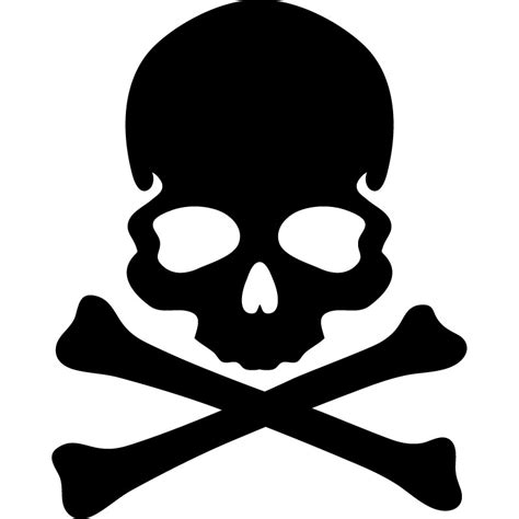 sticker tete de mort os noirs stickers enfants
