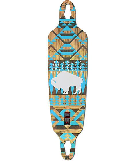 Drop Deck Longboard Zumiez by Mercer White Buffalo 40 Quot Drop Through Longboard Deck At