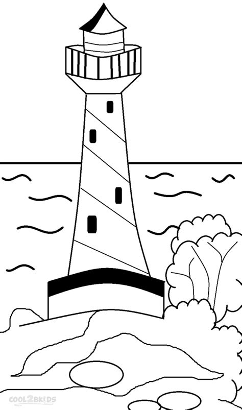 printable lighthouse coloring pages  kids coolbkids