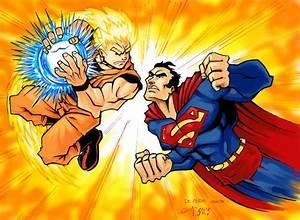 supeman vs goku colored by mistermoster | Goku vs ...
