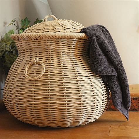 cream large alibaba laundry basket candle  blue