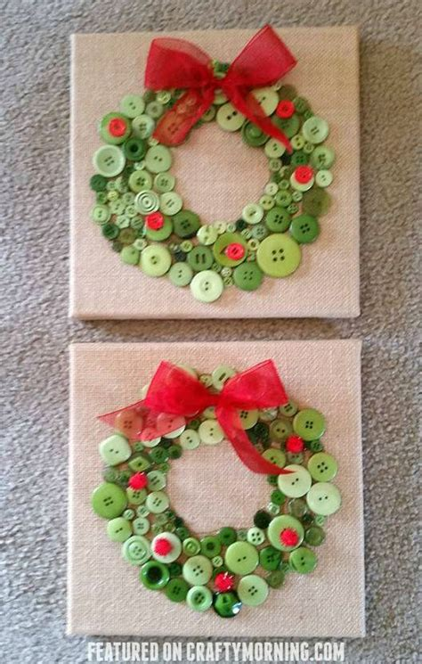 button christmas wreath crafts  kids
