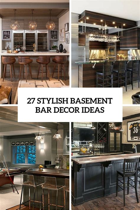 Bar Decor Ideas 27 stylish basement bar d 233 cor ideas digsdigs