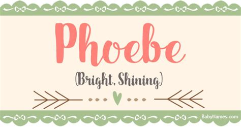 phoebe  meaning  popularity