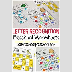 Free Printable Letter Recognition Worksheets For Preschoolers