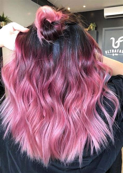 prettiest pink ombre hair color shades  show