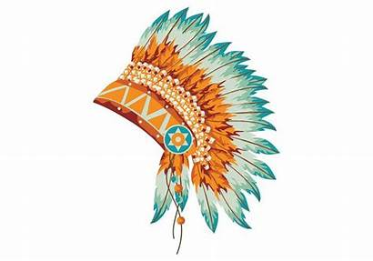 Indian Feathers Headdress Clipart Feather Indios Vektor