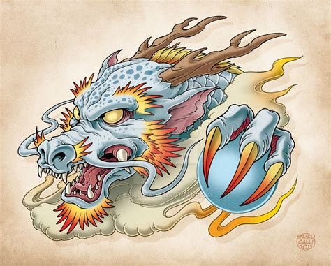 oriental dragon  enricogallideviantartcom  atdeviantart japanese tattoo design