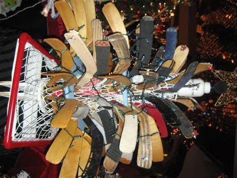 ice hockey stick christmas tree hockeygods