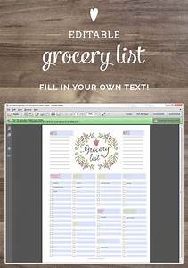 Meal Planner And Grocery List Free Editable Grocery List Printable Pdf Grocery List